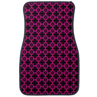 Pink/Black Floral Diamond Shape Floor Mat