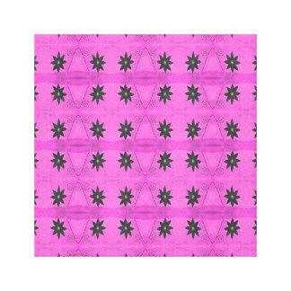 pink black flower pattern canvas print
