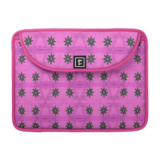 Pink Black Flower pattern Sleeve For MacBook Pro
