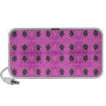 Pink Black Flower pattern Travel Speakers