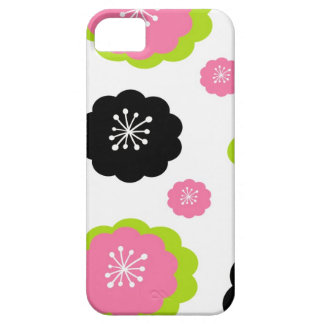 Pink & black flowers girly mod chic floral pattern iPhone SE/5/5s case