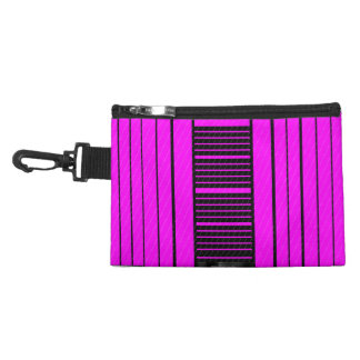 Pink Black Flowing Banner Accessory Bags