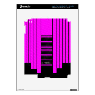 Pink Black Flowing Banner iPad 3 Decal