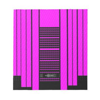 Pink Black Flowing Banner Note Pad