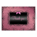 Pink & Black Frame Thank You Card