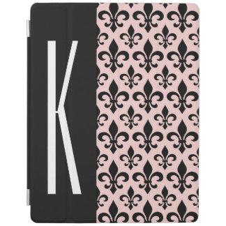 Pink & Black French Fleur-de-lis iPad Cover