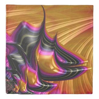 Pink Black Gold Balance Fine Fractal Art Duvet Cover