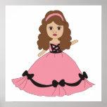 Pink & Black Gown Princess 1 Print