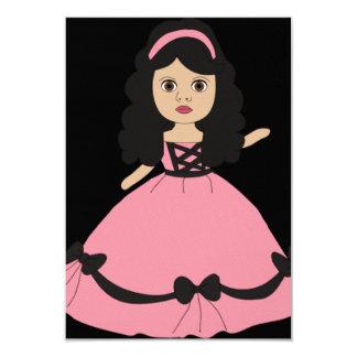 Pink & Black Gown Princess 2 Card