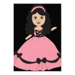 Pink & Black Gown Princess 2 3.5x5 Paper Invitation Card