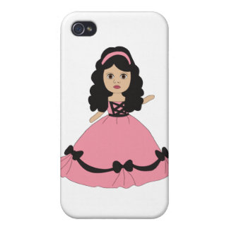 Pink & Black Gown Princess 2 iPhone 4/4S Covers