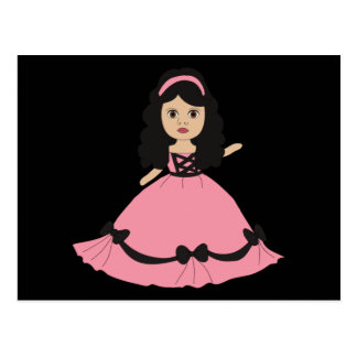 Pink & Black Gown Princess 2 Postcard