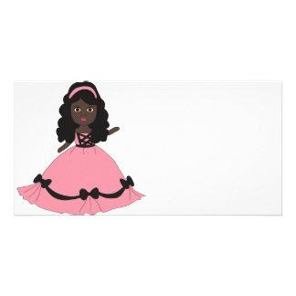 Pink & Black Gown Princess 3 Card