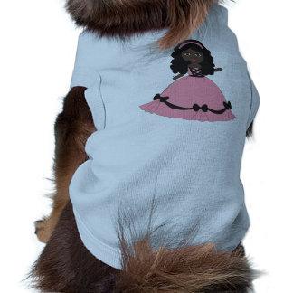 Pink & Black Gown Princess 3 Dog Shirt