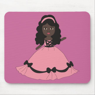 Pink & Black Gown Princess 3 Mouse Pad