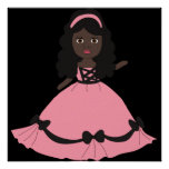 Pink & Black Gown Princess 3 Poster