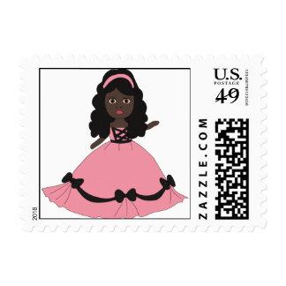 Pink & Black Gown Princess 3 Stamp
