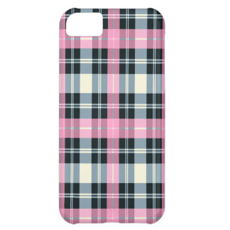 Pink, Black & gray PLAID iPhone 5 case