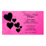 Pink Black Hearts Profile Business Card