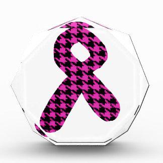 Pink/Black Houndstooth Awareness Ribbon Award