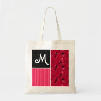 Pink & Black Ladybug Tote Bag