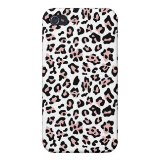 Pink Black Leopard Animal Print Pattern Covers For iPhone 4