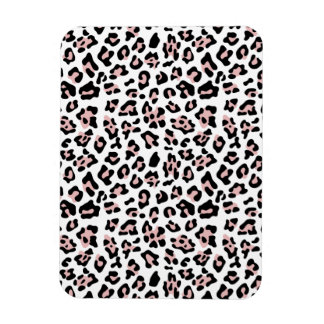 Pink Black Leopard Animal Print Pattern Rectangular Magnet