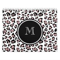 Pink Black Leopard Animal Print with Monogram Calendar