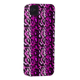 Pink & Black Leopard iPhone 4 Case