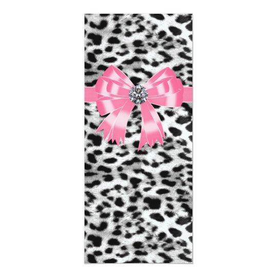 Pink Black Leopard Wedding Program Template