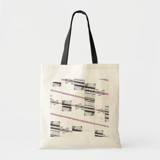Pink Black Lines Tote Bag