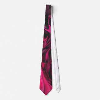 Pink & Black Marble Fire Effect Tie