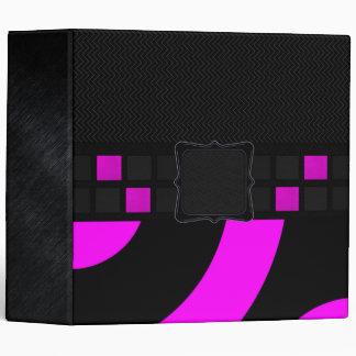 Pink Black Monogram Binders