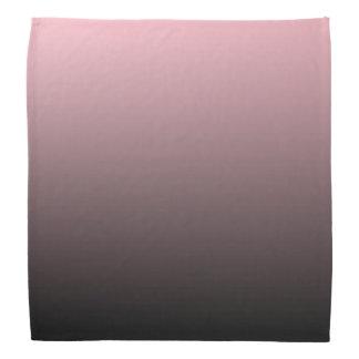 Pink Black Ombre Background Bandana