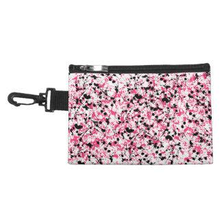 Pink & Black Paint Splatter Accessory Bag