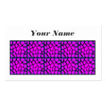 Pink & Black Pattern Business Card Template