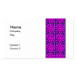 Pink & Black Pattern Business Cards