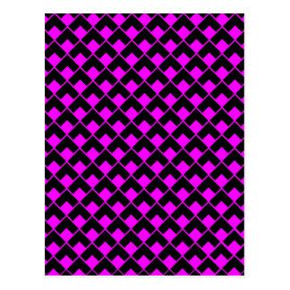 pink black pattern.jpg postcard