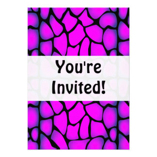Pink & Black Pattern Personalized Announcement