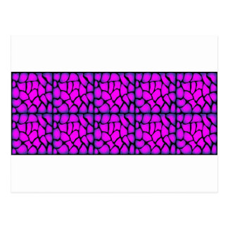 Pink & Black Pattern Post Cards