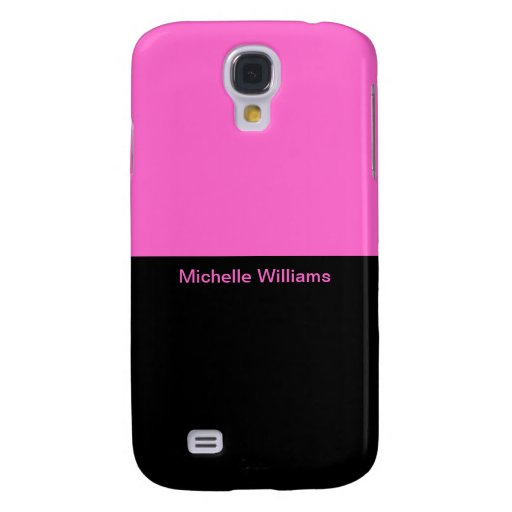 pink black personalize samsung galaxy s4 case