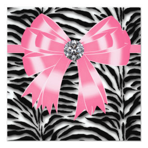 Pink Zebra Wedding Invitations Zazzle