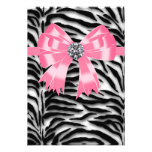 Pink Black Pink Zebra RSVP Template Announcements