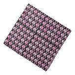 pink black pirate skulls pattern bandannas