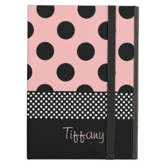 Pink & Black Polka Dots iPad Air Case