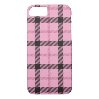 Pink Black Preppy Plaid iPhone 8/7 Case