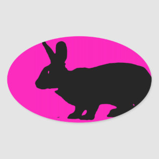 Pink black razberry rabbit fashion stickers