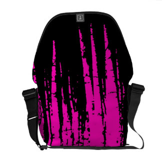 Pink black razberry trees fashion messenger bag
