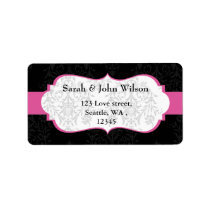 pink black  ,return address label