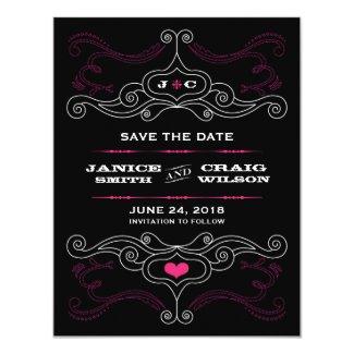 Pink & Black Rock 'n' Roll Music Themed Wedding